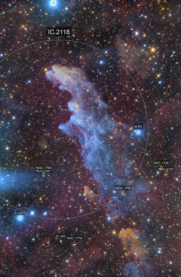 The Witch Head Nebula captured by LI FANG using QHY128C
