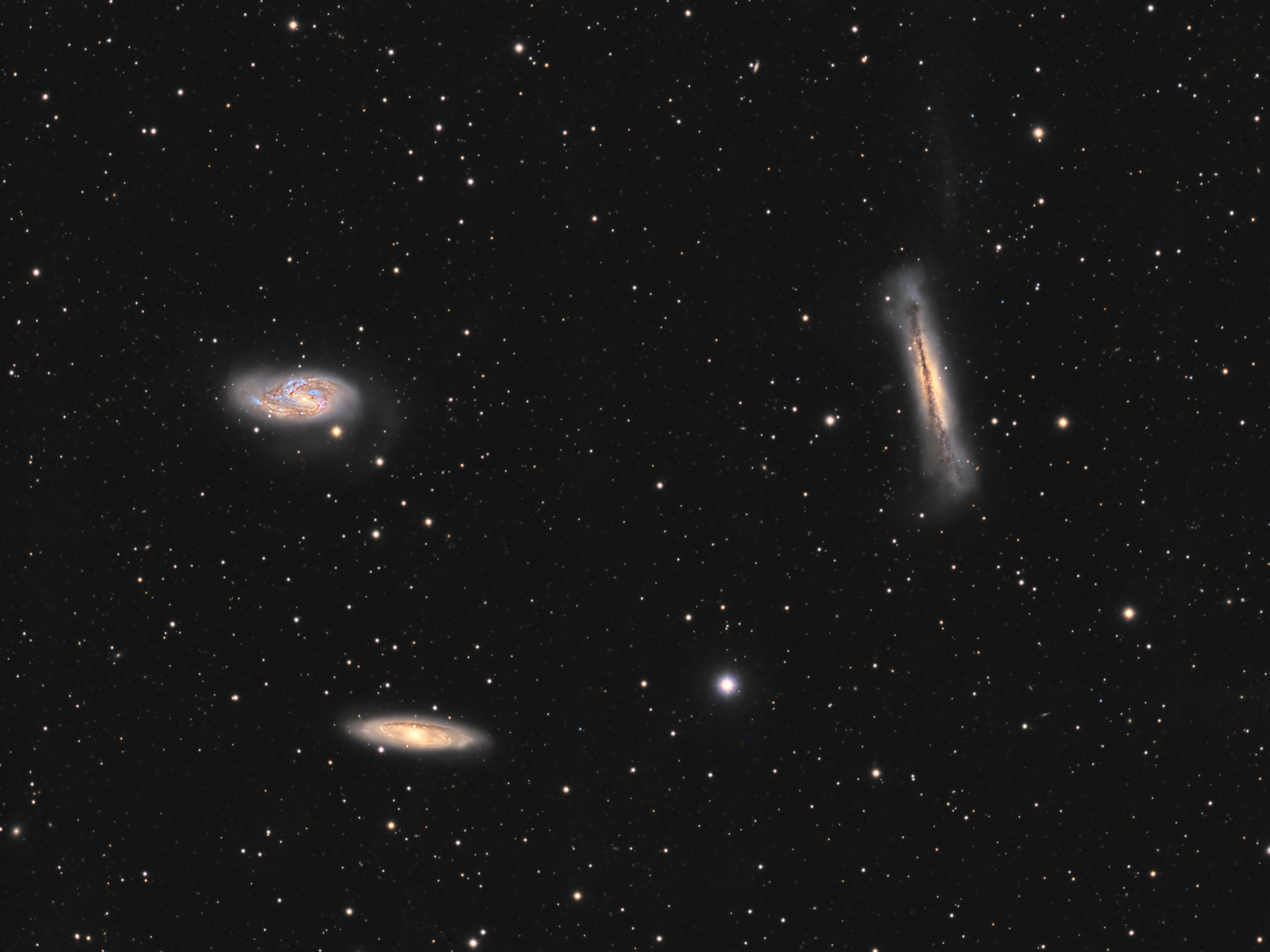 The Leo Trio – M65, M66 and NGC 3628, with QHY16200A