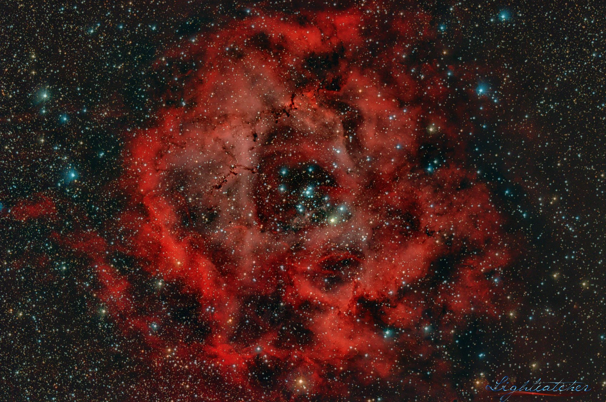 The Rosette Nebula (also known as Caldwell 49)
