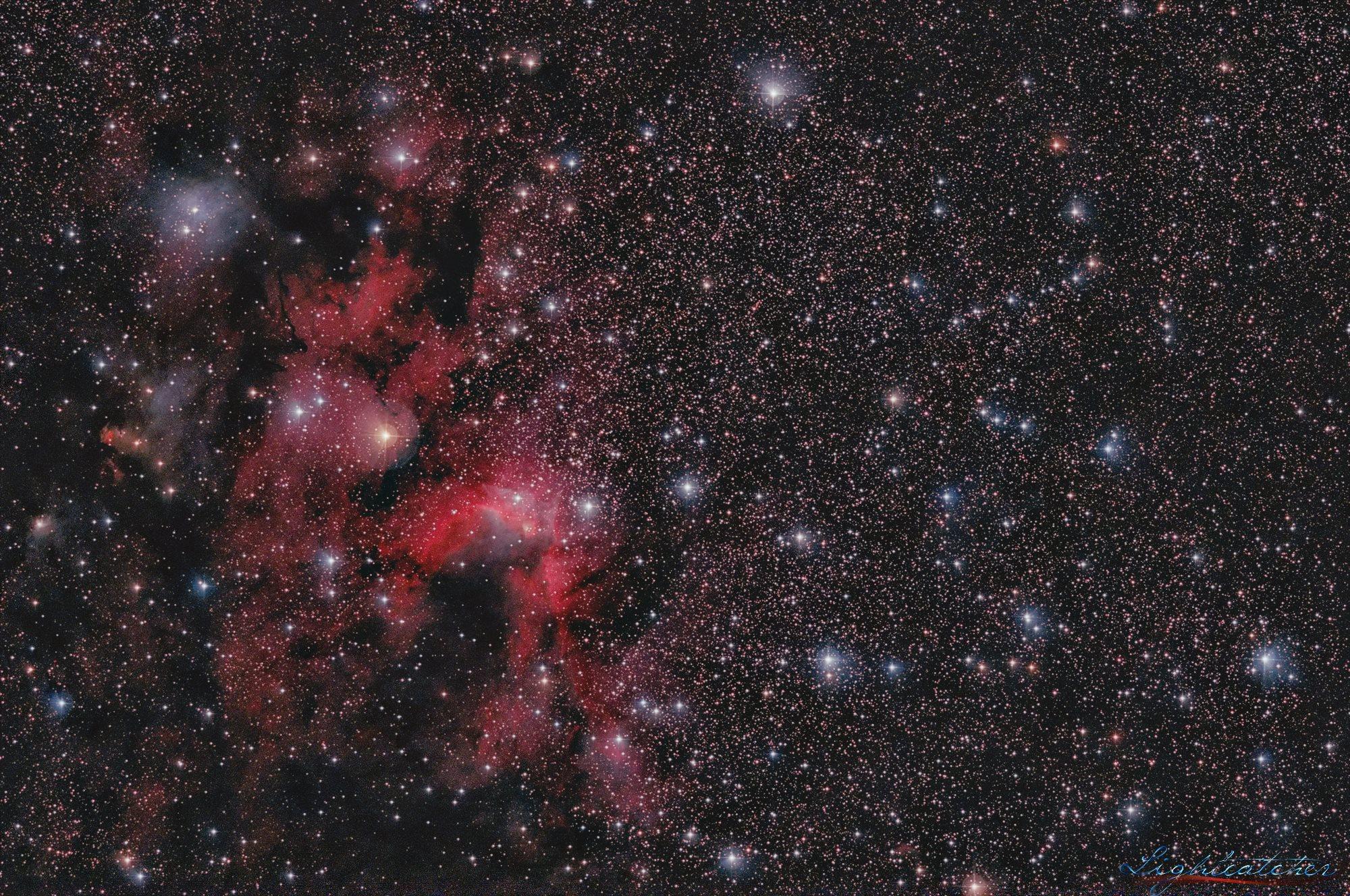 Sh2-155 (Cave Nebula)   Celestron RASA 11` QHY168C @-10C No guiding AZ-EQ6-GT Optolong L-PRO MAX Luminosity 159x60sec. = 2 hour 39 minutes 60xDark 60xBias