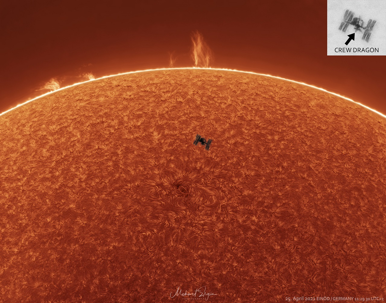 Another APOD——ISS solar transit by Mehmet Ergun with QHY5III174M